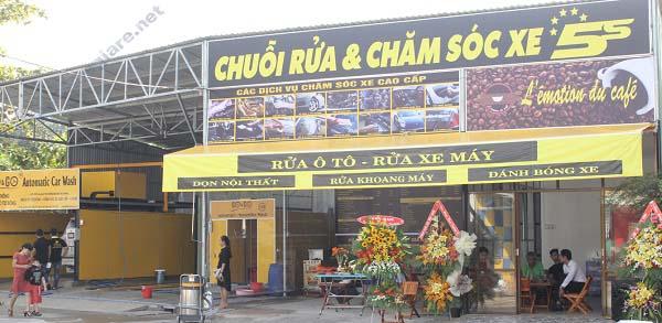 Kinh nghiem mo cua hang rua xe chuyen nghiep