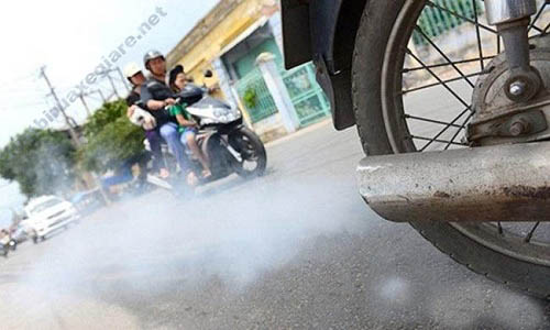 Ống xả xe máy bị ra khói trắng