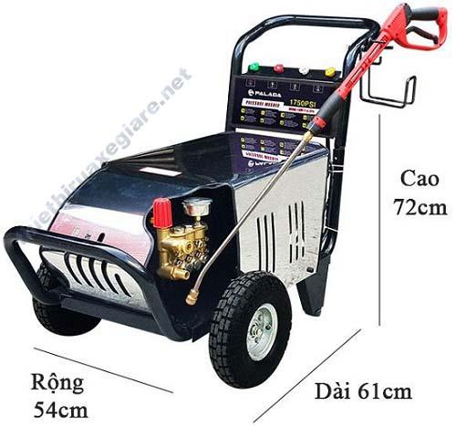 Kích thước nhỏ gọn của sản phẩm rửa xe Palada 18M17.5-3T4