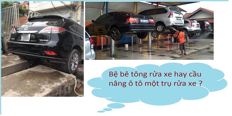 Cầu nâng 1 trụ là giải pháp tối ưu và mang lại hiệu quả cho việc rửa xe