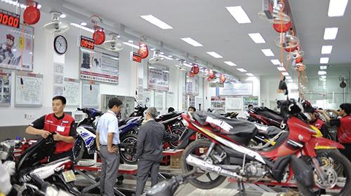 Chế độ bảo hành xe máy tại nhiều hãng xe làm hài lòng khách hàng