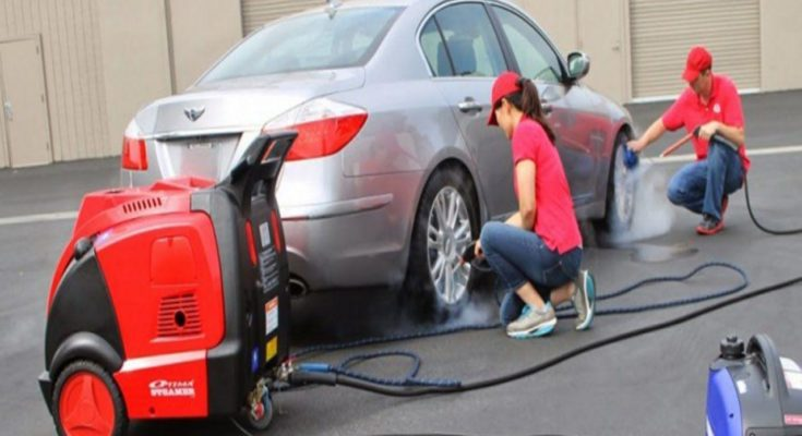 Máy rửa xe hơi nước nóng mang lại nhiều công dụng hữu ích