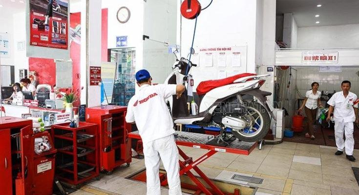 Bảo dưỡng xe máy phần khung sườn