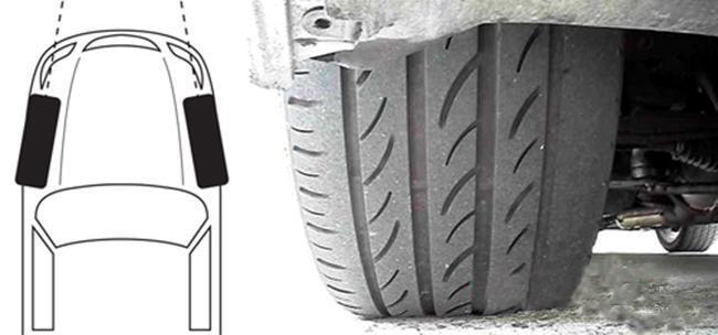Lốp bị mòn mép trong do độ chụm thay đổi