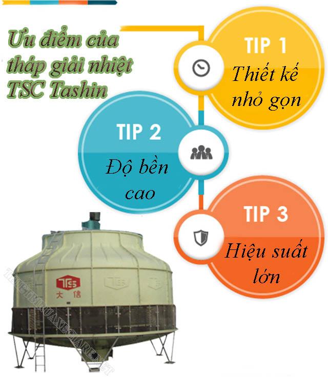Ưu điểm của tháp giải nhiệt tròn Tashin
