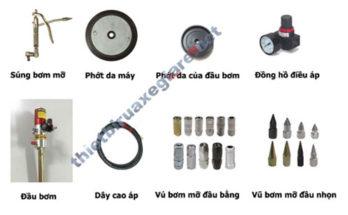 Các loại phụ kiện máy bơm mỡ chính hãng
