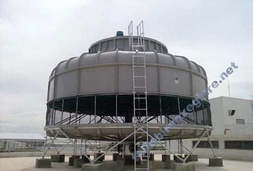Tháp giải nhiệt tròn được các nhà xưởng rất ưa chuộng