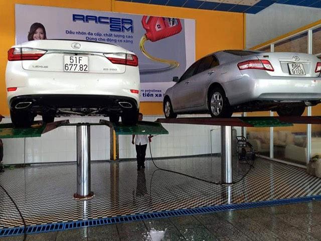 cầu nâng ô tô thiết bị hiện đại chuyên nghiệp