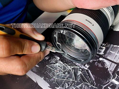 vỡ kính lens máy ảnh