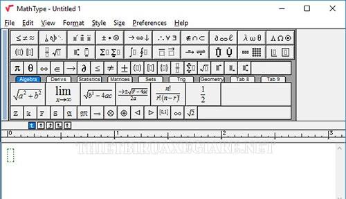 hướng dẫn cài đặt trên phần mềm MathType