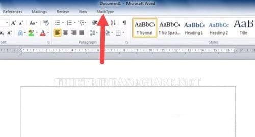 cài đặt MathType trên word