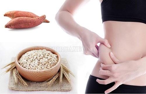 giảm cân bằng yến mạch và khoai lang