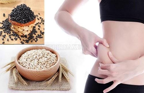 cách giảm cân bằng nước đậu đen và yến mạch