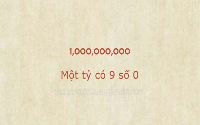 1 tỷ có mấy số 0